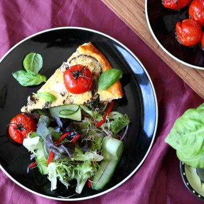 Greek Yoghurt, Eggplant & Zucchini Frittata