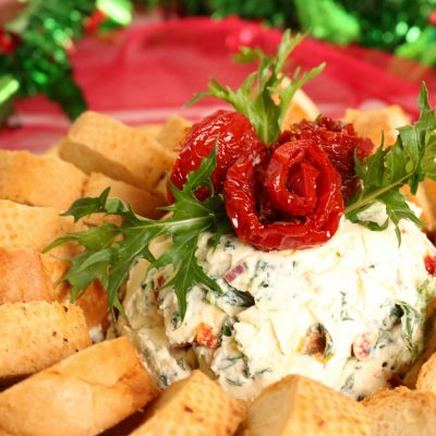 Spinach & Sun-Dried Tomato Cream Cheese Spread