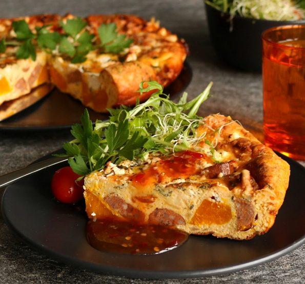 Pumpkin & Chorizo Frittata