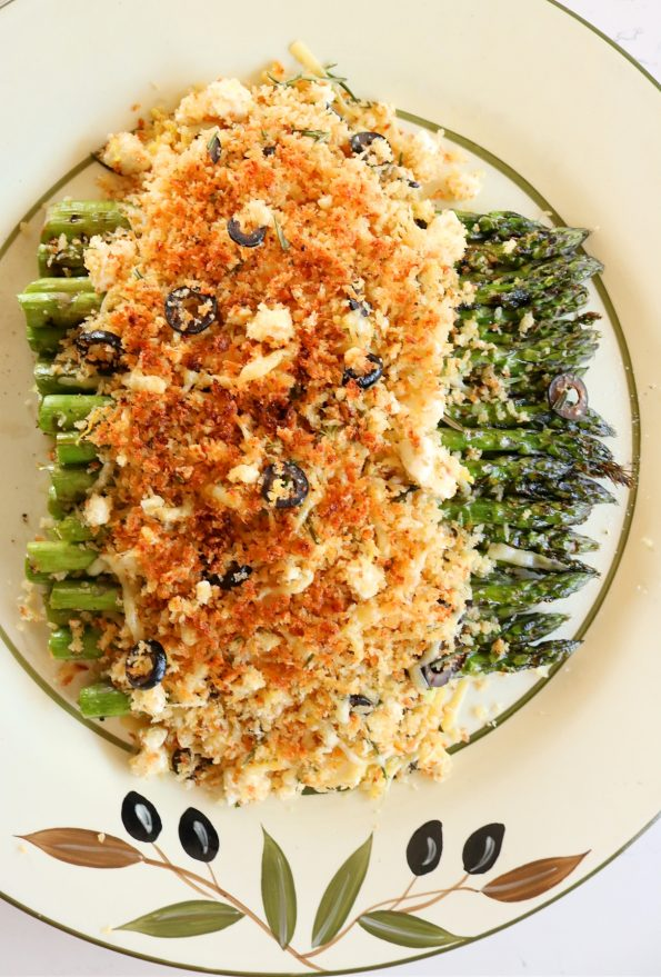 Chargrilled Asparagus under a Parmesan Crumb