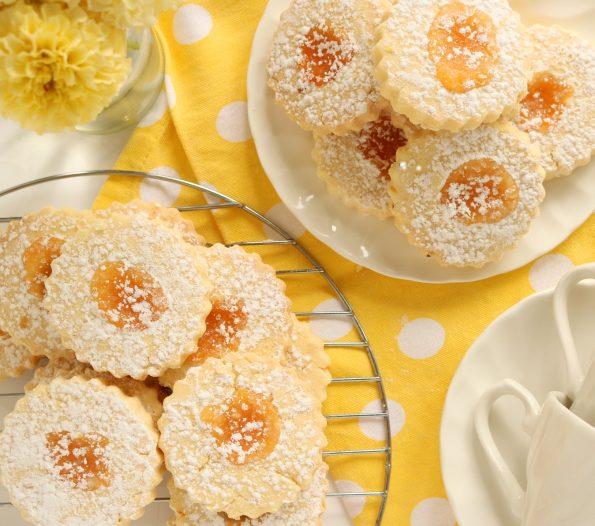 Lemon Curd Shortbread
