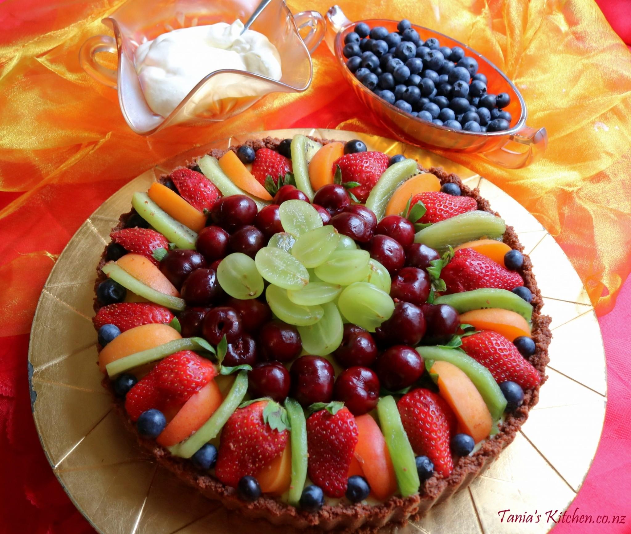 Fresh Fruit Summer Flan