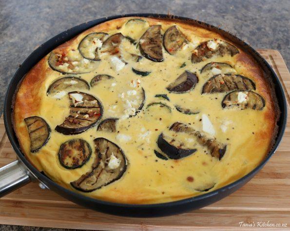 eggplant & zucchini frittata