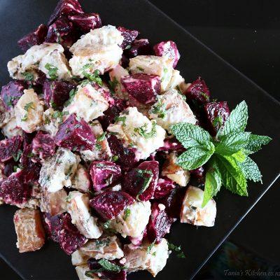 Roast Beetroot & Potato, Horseradish Salad