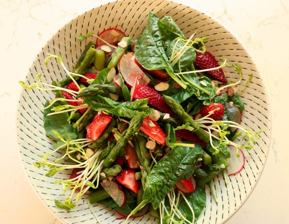 Asparagus & Strawberry Salad with Marmalade Dressing