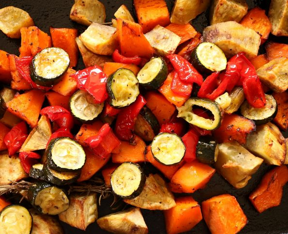 Roast Vegetable Salad with Maple Dressing