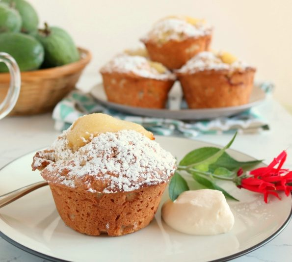 Spiced, Feijoa & Pear Muffins