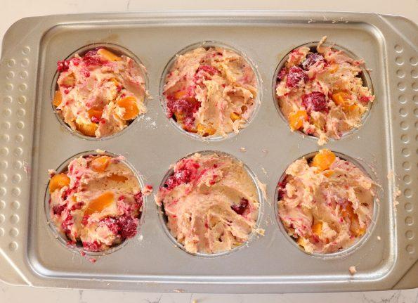 Peach & Raspberry Muffins
