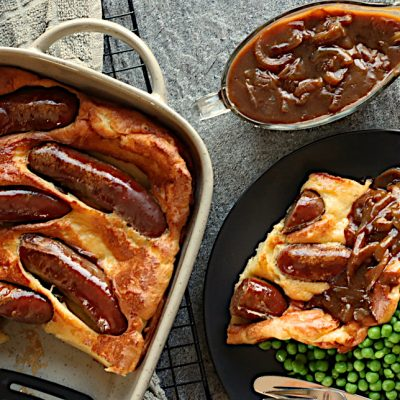 Toad in the Hole with Brown Onion Gravy