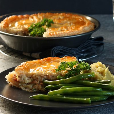 Bacon & Smoked Fish Pie