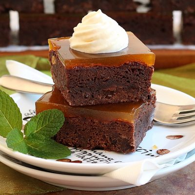 Apricot Glazed Dark Chocolate Brownie