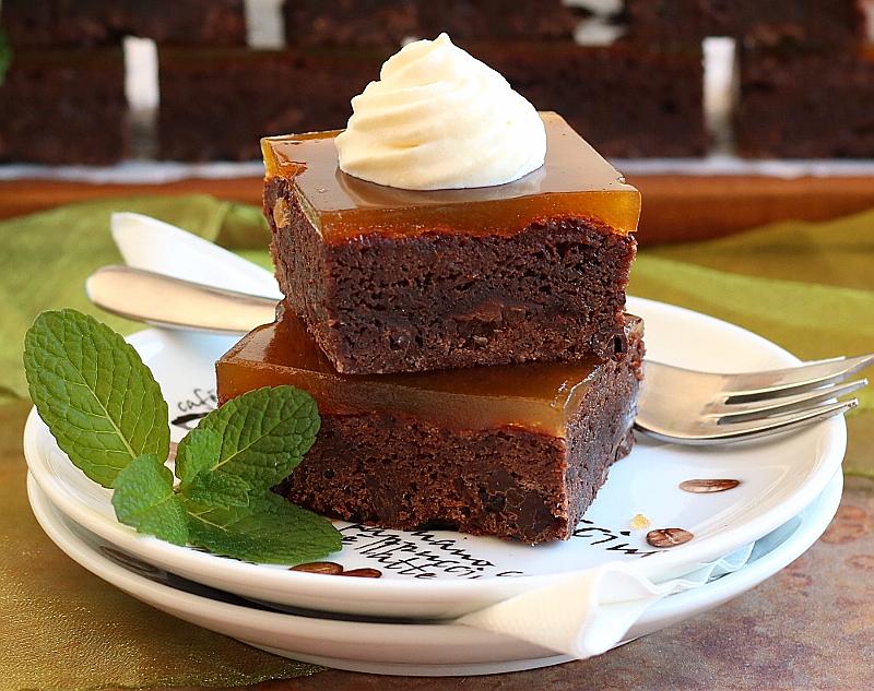 Apricot Glazed Dark Chocolate Brownie