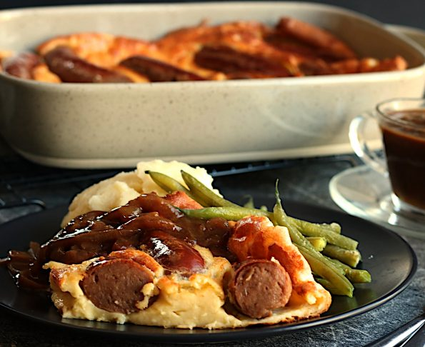 Toad in Hole with Onion Gravy