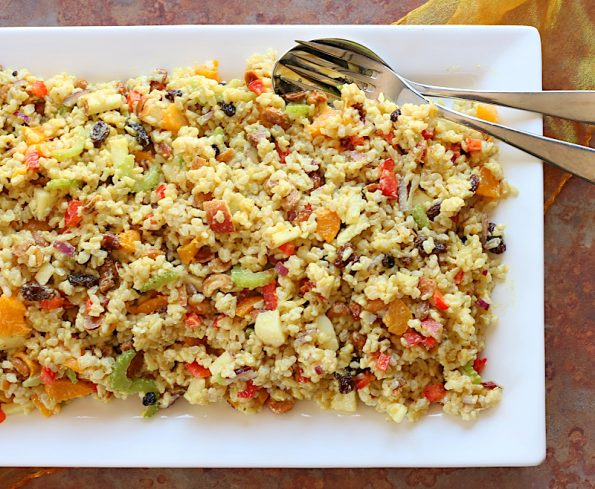 Fruity & Nutty Curried Brown Rice Salad