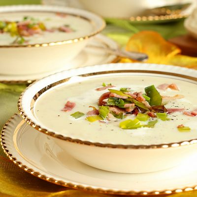 Potato, Leek & Bacon Soup