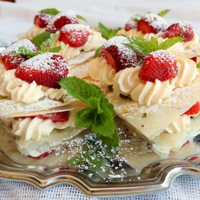Strawberry Filo Stacks