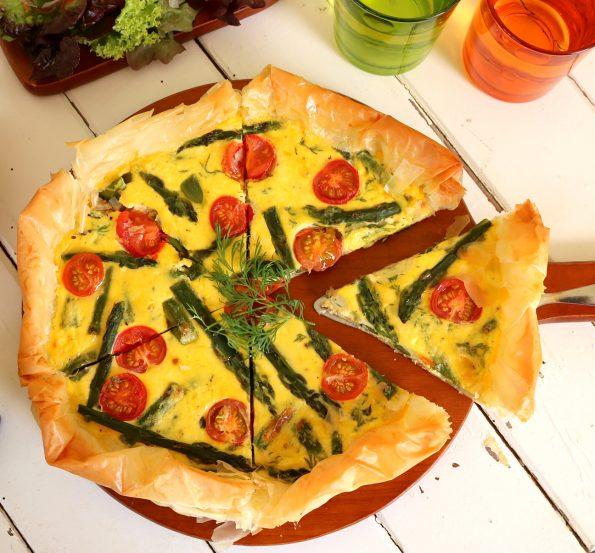 asparagus filo tart