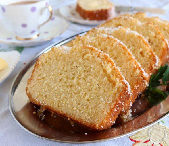 lemon & coconut syrup loaf