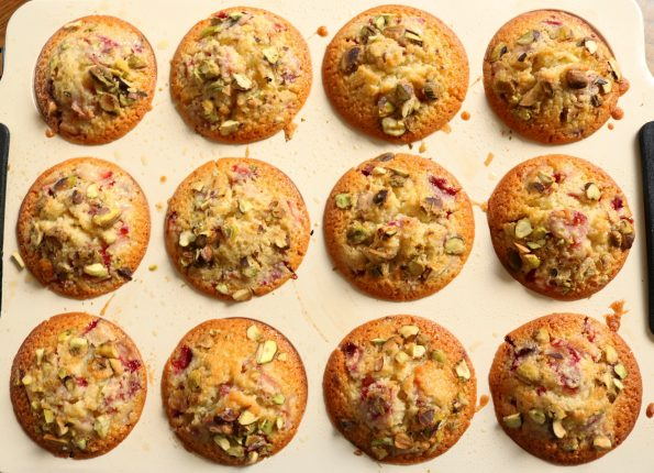 strawberry & pistachio friands