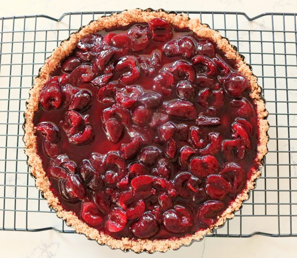 Cherry, Mascarpone Cheesecake Tart