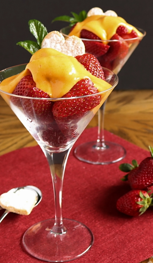 Moscato d'Asti Zabaglione with Strawberries