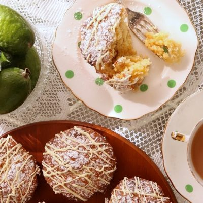 Feijoa & White Chocolate Muffins