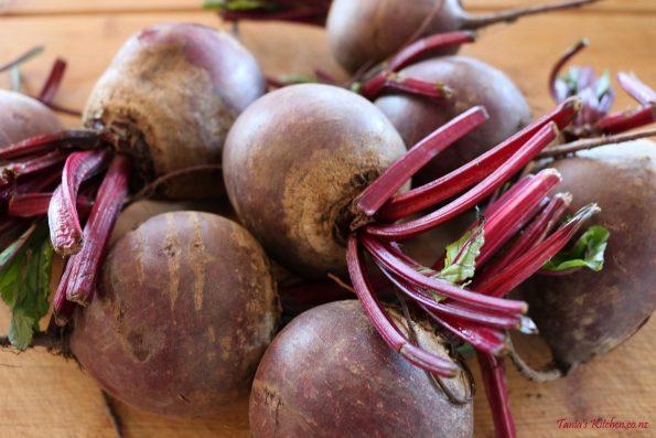 roast beetroot & potato horseradish salad