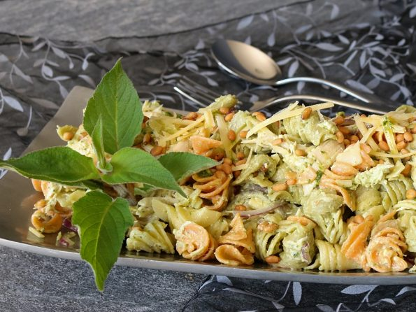 Chicken, Basil Pesto & Pine Nut, Pasta Salad