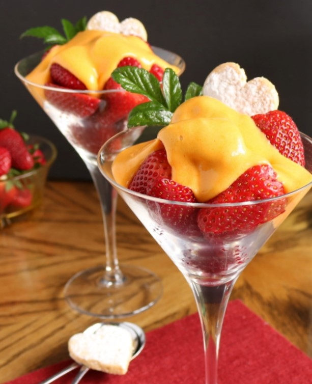 Moscato Zabaglione with Strawberries