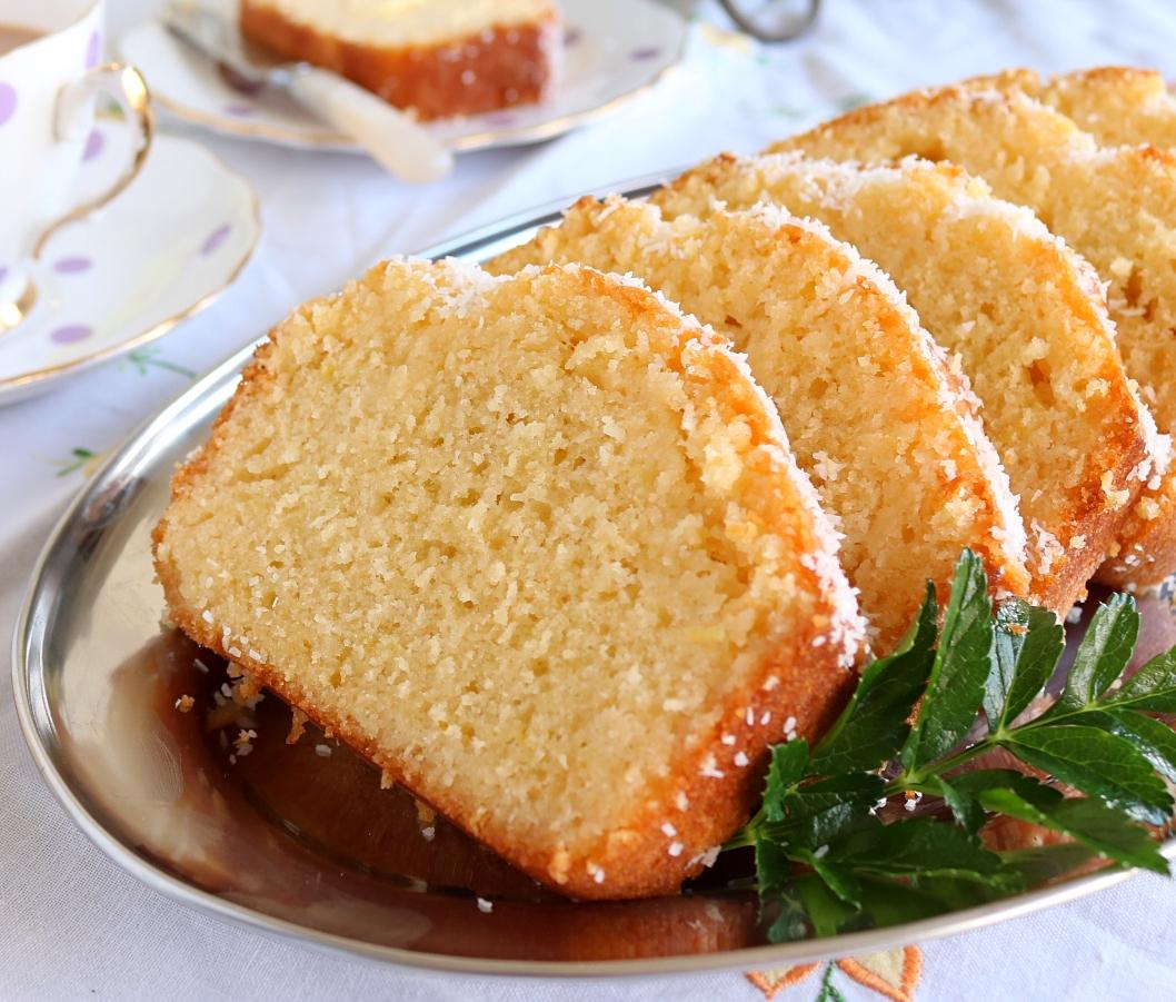 Excellent Lemon & Coconut Syrup Loaf