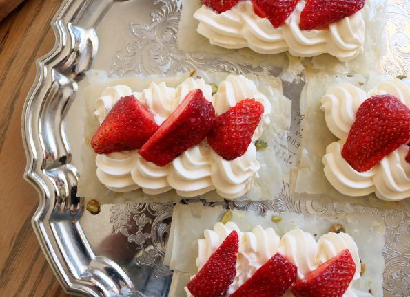 Strawberry Filo Stacks