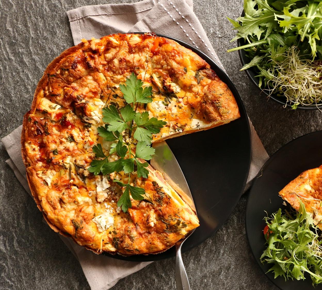 Roast Pumpkin, Chorizo, Feta & Rosemary Frittata