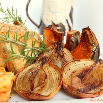 Balsamic Roasted Brown Onions